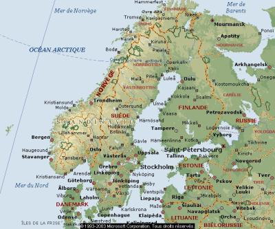 L'itinéraire carte-kapp-nord